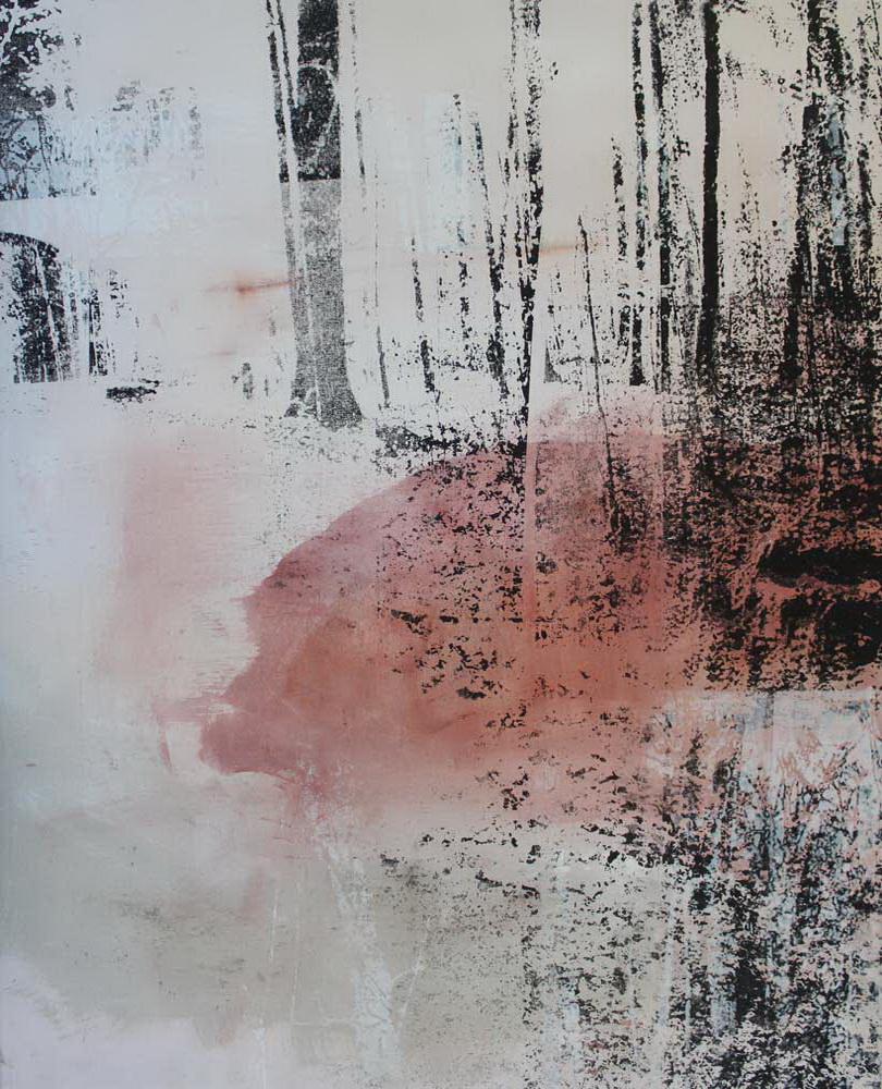 #2017103 | Pigment und Siebdruck auf Leinwand | 80 x 65 cm