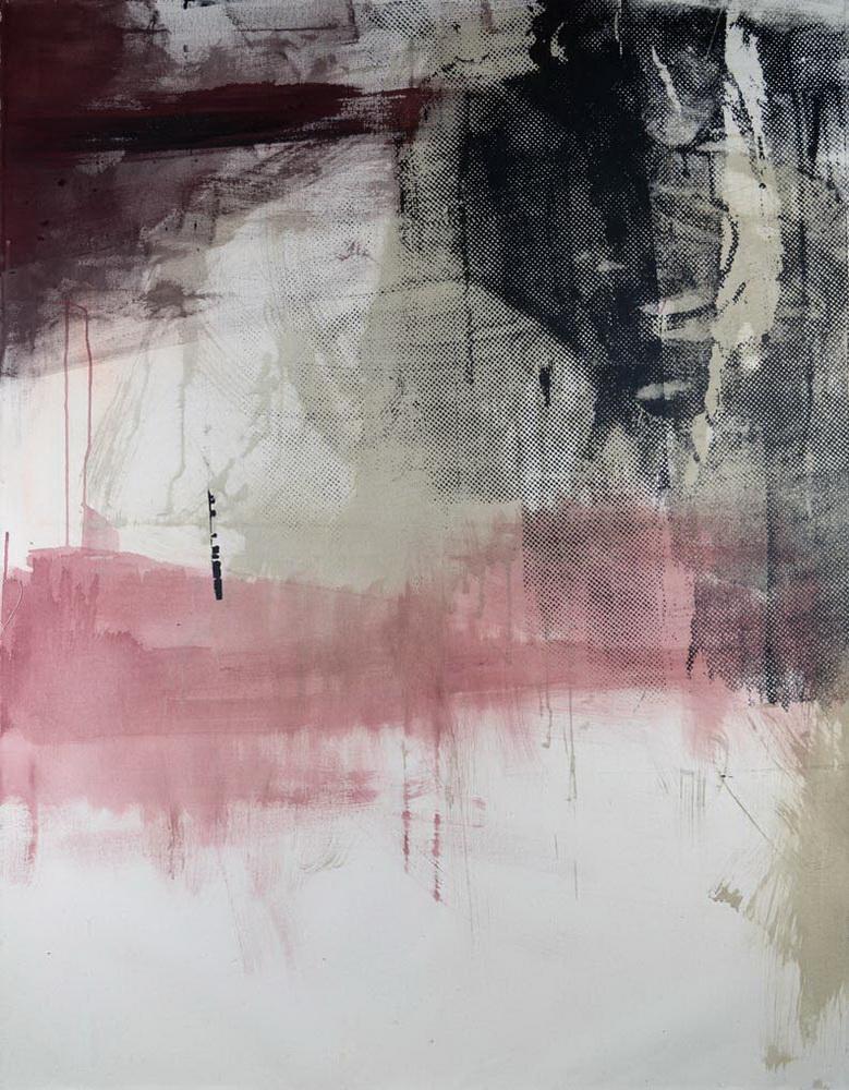 #201938 | Pigment und Siebdruck auf Leinwand | 140 x 110 cm