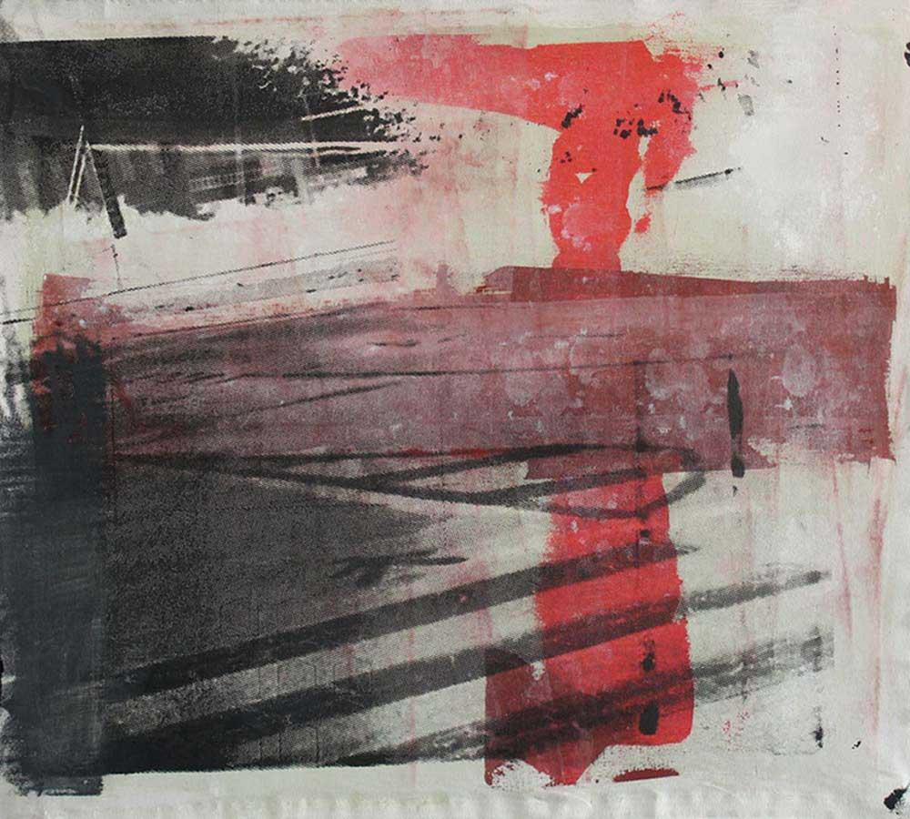 #201544 | Pigment und Siebdruck auf Leinwand | 50 x 57 cm