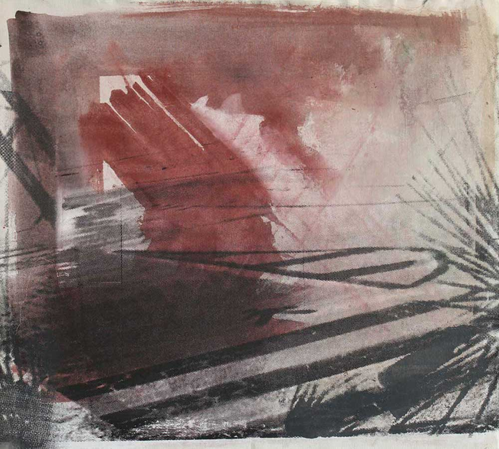 #201543 | Pigment und Siebdruck auf Leinwand | 50 x 57 cm