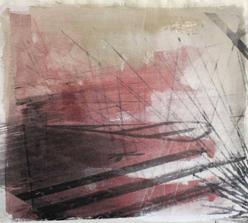 #201542 | Pigment und Siebdruck auf Leinwand | 50 x 57 cm