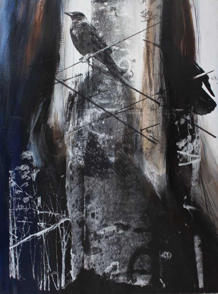 #201821 | Acryl und Siebdruck | 80 x 60 cm