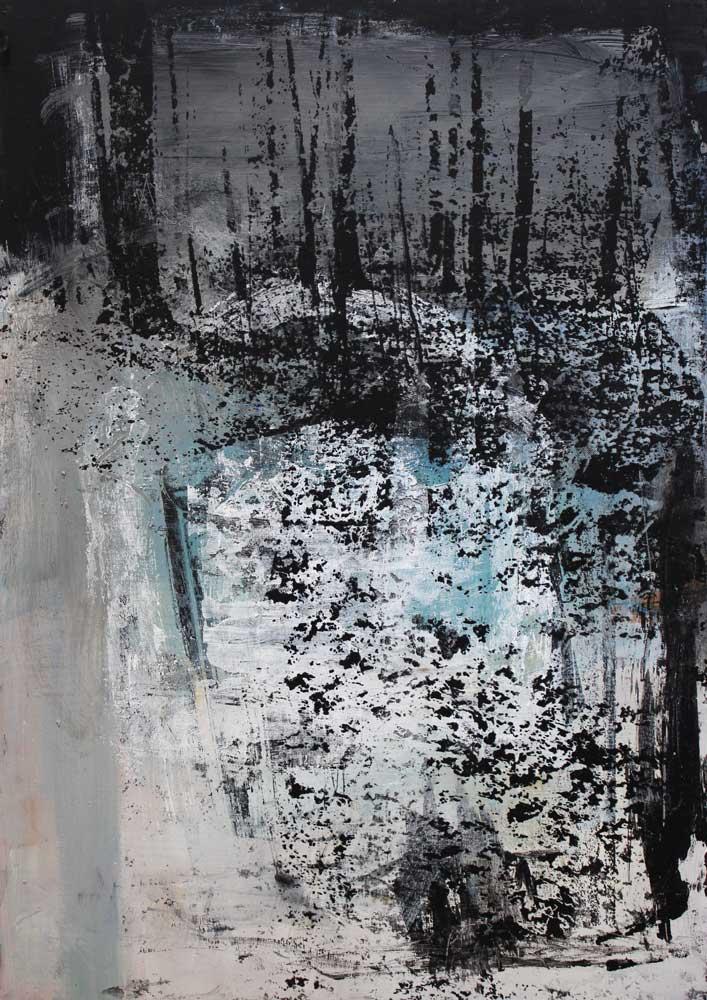 #2017116 | Acryl und Siebdruck | 70 x 50 cm