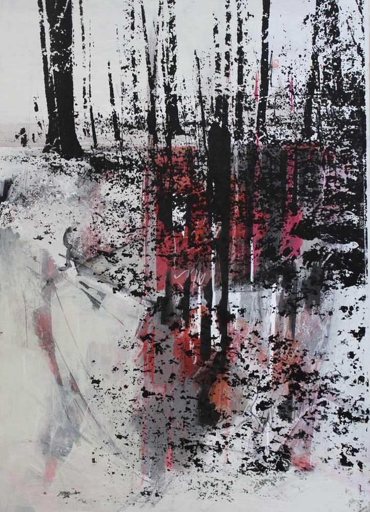 #2017115 | Acryl und Siebdruck | 70 x 50 cm
